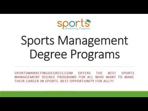 Best Sports Management Degree Online Schools For Sports Education