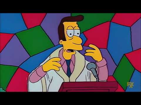 The Simpsons - Homer Listens To Football In Church