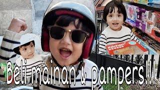 Download Video WOW!!! Adiva borong pampers dan mainan anak bayi pakai stroller - Adiva&Aidan MP3 3GP MP4