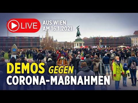 Live 16.1.2021: Demos in Wien –