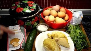 Как приготовить вкусную ОКРОШКУ с куриного бульона ))