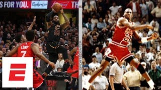 LeBron James' and Michael Jordan's game-winners on opposite sides of Cavaliers history | ESPN