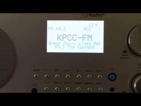 Sangean HDR-18 HD Radio Los Angeles FM Band Scan (Full Video)