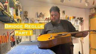 Bridge Reglue on Italian Acoustic Electric (Part 1)