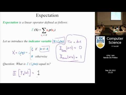 undergraduate machine learning 10: Expectation, probability and Bernoulli models