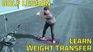 Golf Lesson: Learning Weight Transfer using V1 Body Trak