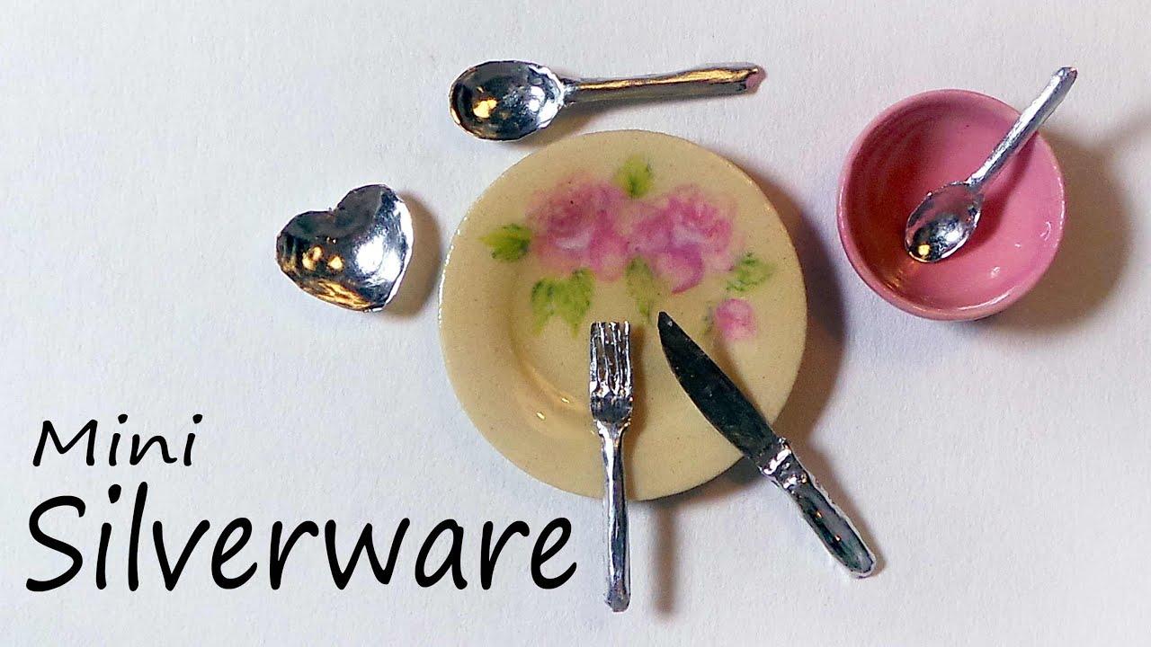realistic miniature cutlery silverware tutorial youtube