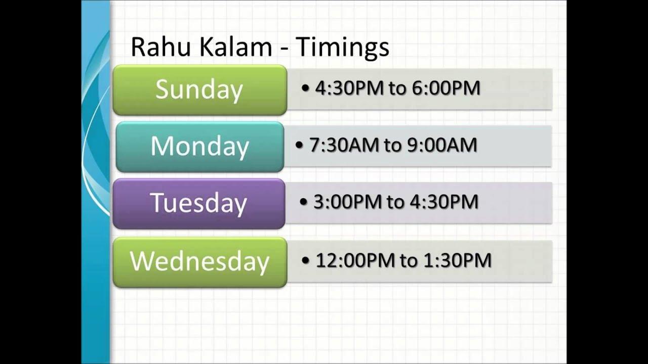 Om Series Daily Rahu Kalam Timings Youtube