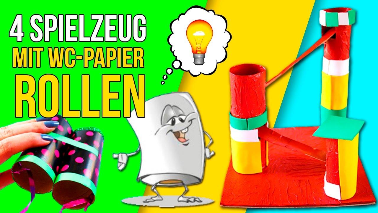 DIY SPIELE Mit WC PAPIER Rollen * Super SPAß SPIELZEUG Für Kinder
