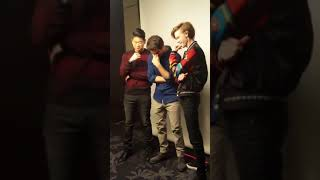 Mazerunner press tour day 1  Dylan  O'Brien Thomas Sangster Ki Hong Lee