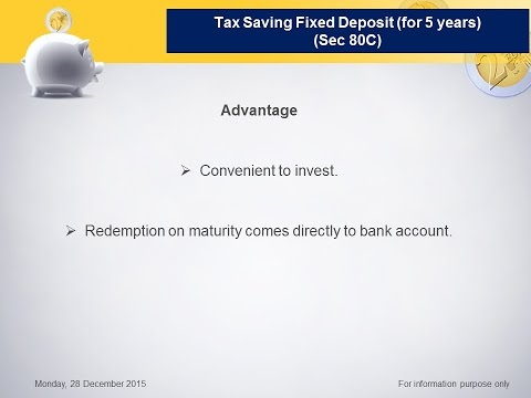 """Tax Saving Fixed Deposit (How to save Tax? (Part-6))"""