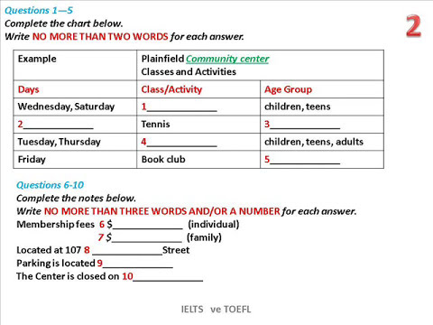 "IELTS LISTENING SECTION 1"" 40 QUESTIONS WITH KEY."