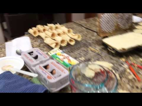 How To Make Cream Filled Pizzelles
