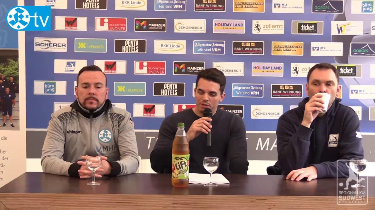 28. Spieltag, Schott Mainz vs Stuttgarter Kickers-Pressekonferenz ...