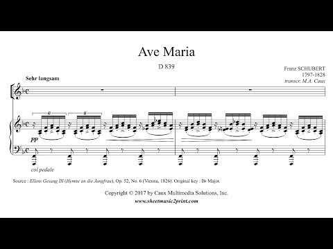 Schubert : Ave Maria - F Major