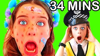 34mins BIGGY POLICEMAN Pretend Play - Best of Compilation w/ The Norris Nuts