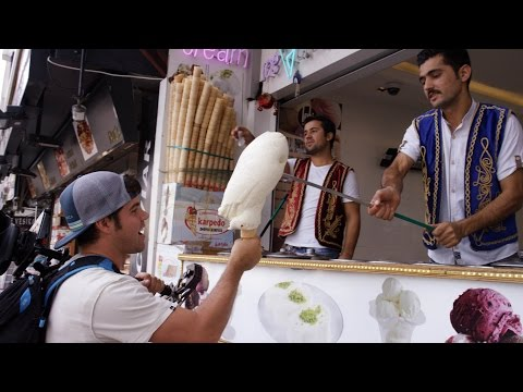 Turkish Ice Cream Tricks in Istanbul