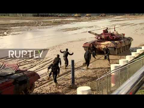 """Russia: Host team wins """"tank biathlon"""" final in Moscow region"""