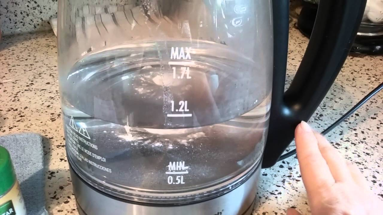 how to clean out a kettle