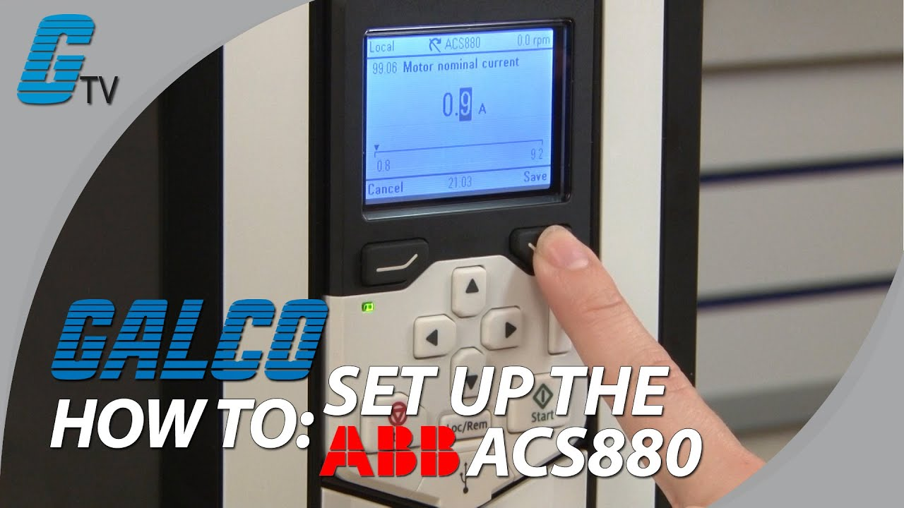 how to set up the abb acs880 variable frequency drive [ 1280 x 720 Pixel ]