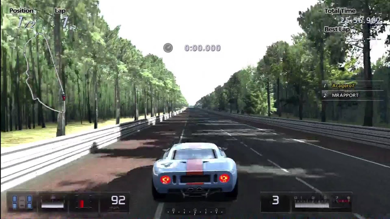 Gran Turismo  Drag Races Ford Gt Vs Ford Gt Lm Race Car