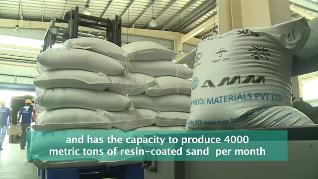 Colour coated sheets manufacturing process - Asahi Modi Materials Pvt Ltd Resin Coated Sand Manufacturing Plant Process