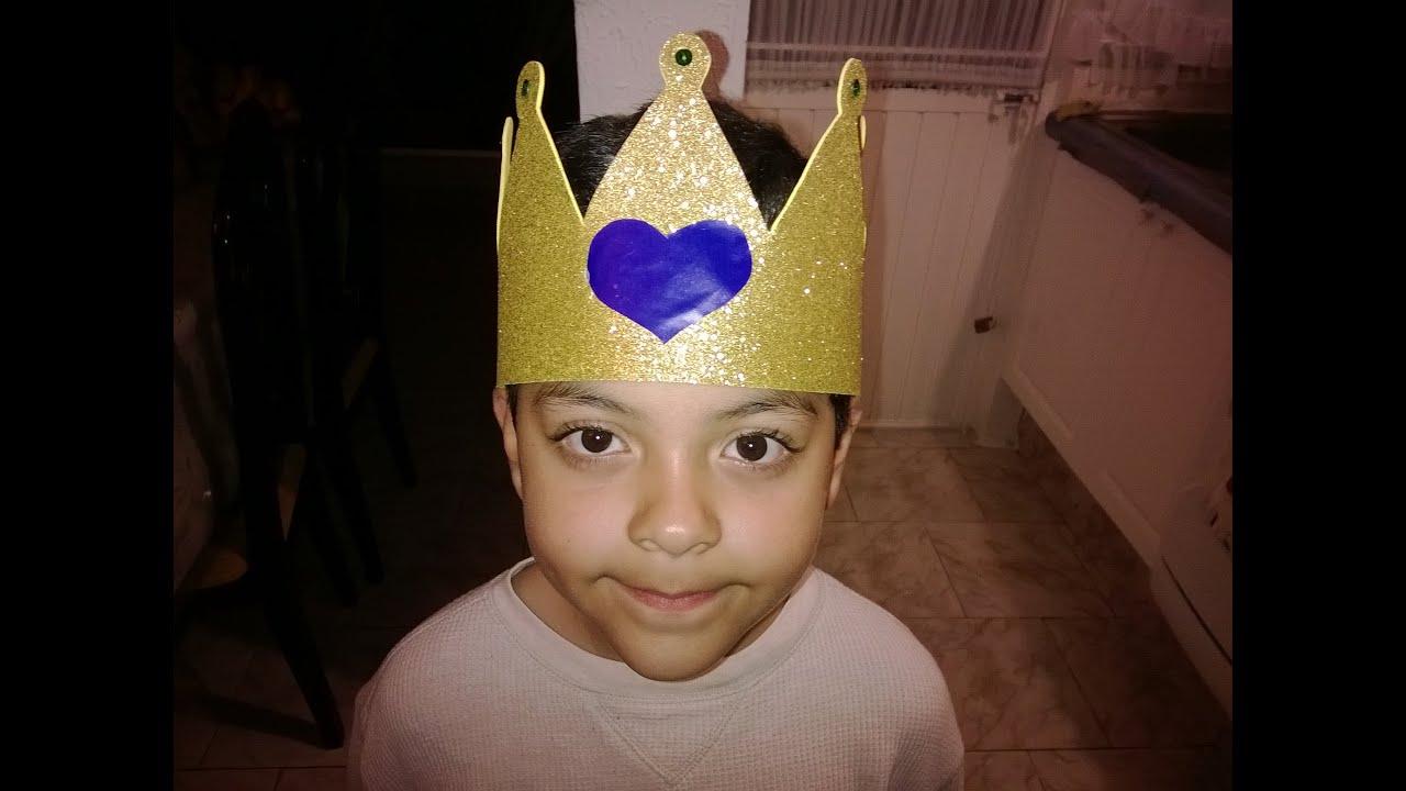 DIY corona de rey de foamy para niño - YouTube