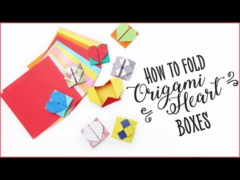 How to fold Origami Heart Boxes