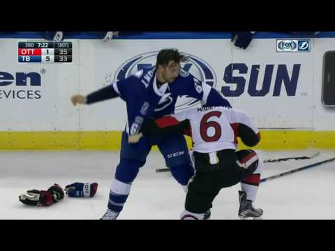Wingels gets side-swiped by Paquette, all heck breaks loose