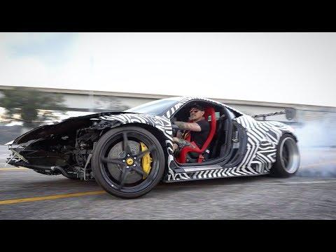 RIP GT-458 : Crashed Ferrari Drifts Jacksonville Streets