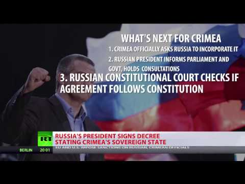 Putin signs decree recognizing Crimea as sovereign state
