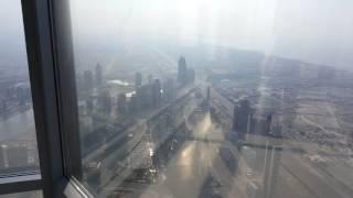 Amazing view Burj Khalifa Dubai 148 floor