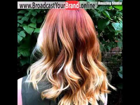 Red Hair With Blonde Ombre Highlights Youtube