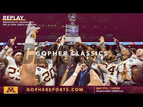 Watch Live: Gopher Football Runs Past Georgia Tech 34-10 In 2018 Quick Lane Bowl (Gopher Classics)