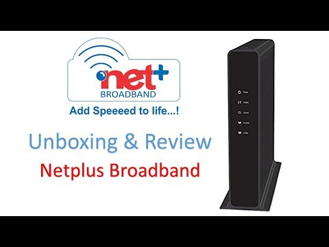 Netplus Broadband Unboxing and Review | Fastway Cable Broadband Unboxing | Technical Dinner