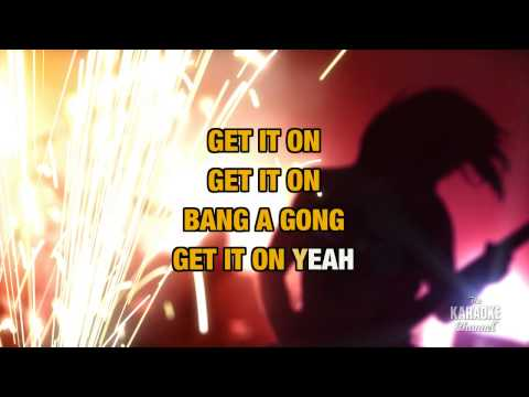 Get It On (Bang A Gong) in the style of The Power Station | Karaoke with Lyrics