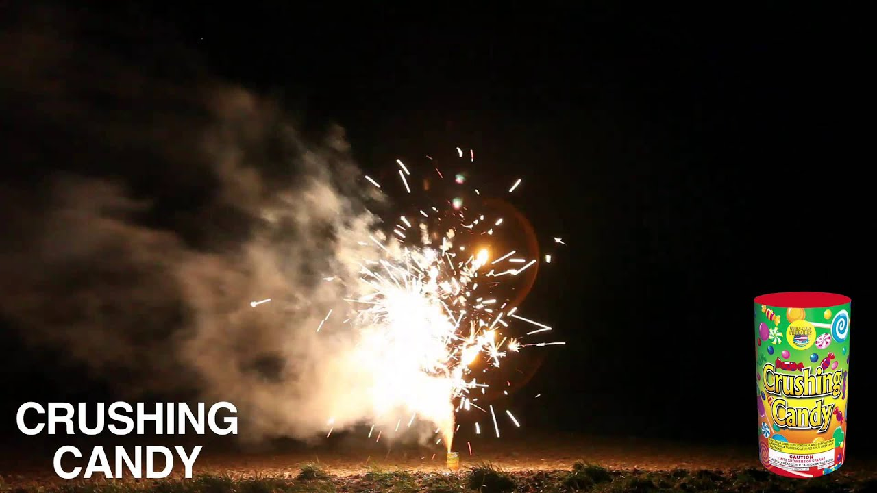 CRUSHING CANDY - FOUNTAIN - WORLD CLASS FIREWORKS - YouTube