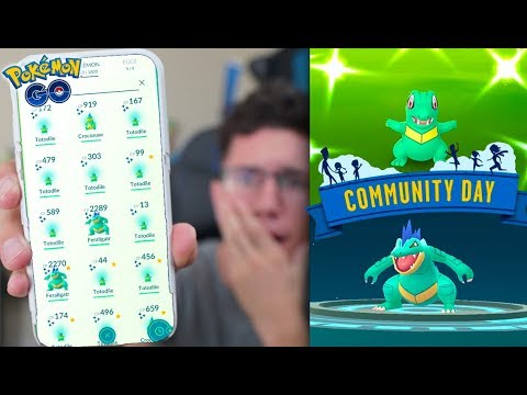 THIS WAS LITERALLY UNREAL! Pokémon GO SHINY TOTODILE COMMUNITY DAY! thumbnail