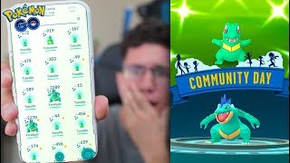 THIS WAS LITERALLY UNREAL! Pokémon GO SHINY TOTODILE COMMUNITY DAY!