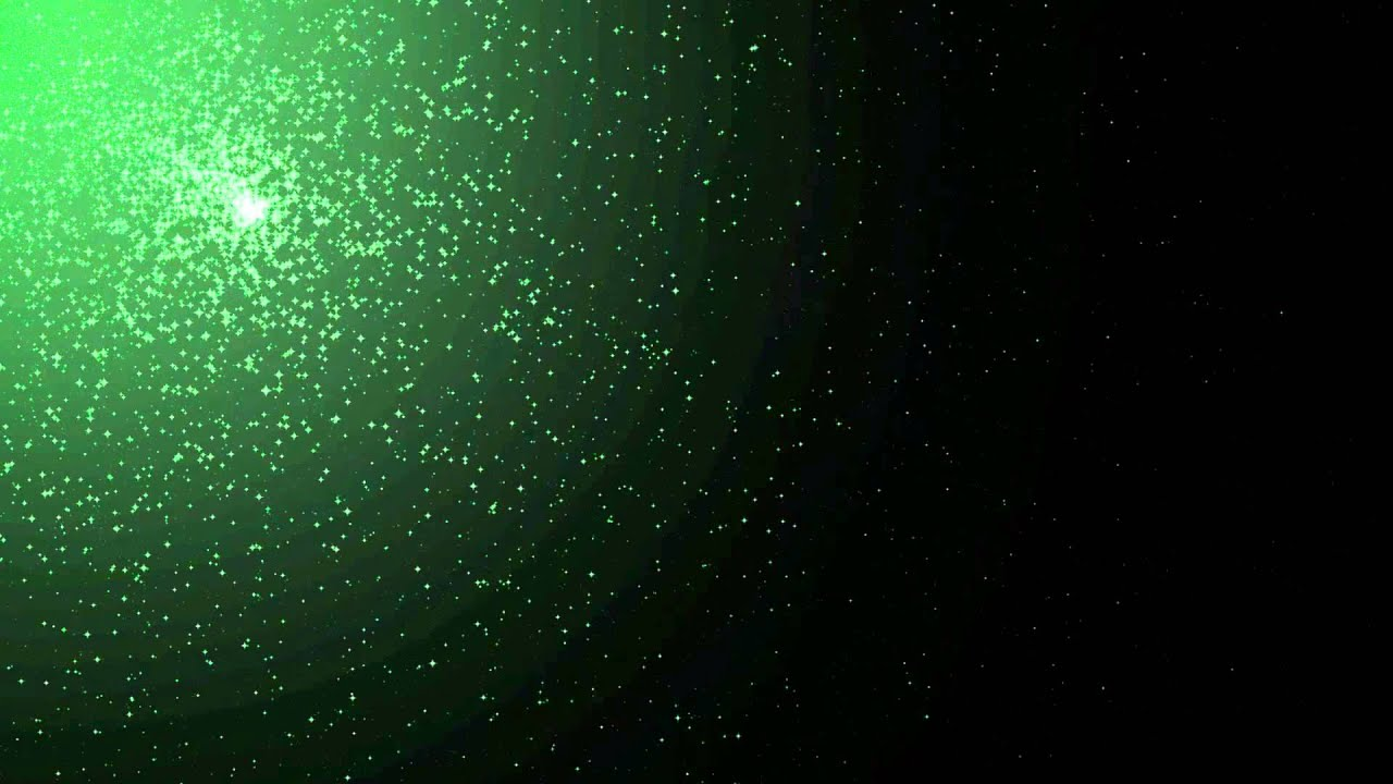 green stars across black background animation free footage