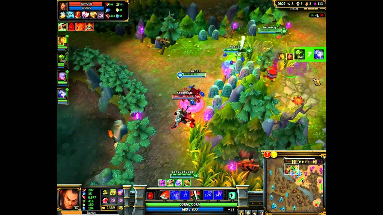 League Of Legends Darius Gameplaynew Map Designnew Ashe Youtube