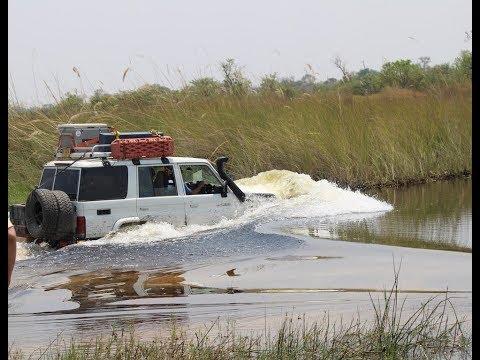 Botswana, Moremi, Hilux, Land-Cruiser, river crossing, 4x4,  Africa, Camping, 2017