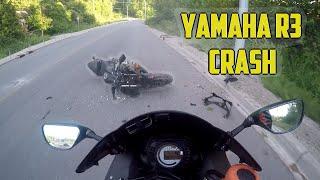 Yamaha R3 Crash