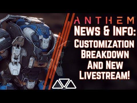 Anthem News & Info: Brand New Customization & Cosmetic Details! Livestream This Week!