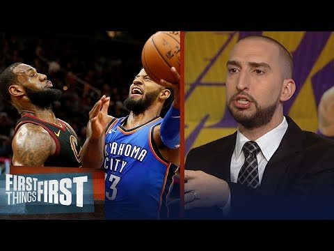 Nick Wright on why LeBron plus Paul George make the Lakers a title threat | NBA | FIRST THINGS FIRST