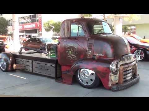 """SEMA 2013: Rat Rod """"mid engine"""" turbo diesel truck"""