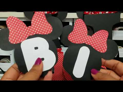 Project Share: Minnie Mouse Birthday Banner And Letters