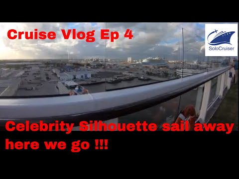 Celebrity Silhouette Sail Away .. Here we go !! Cruise Vlog Ep 4