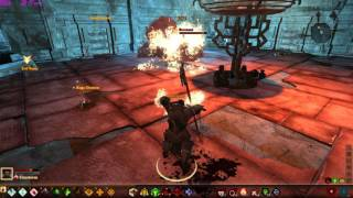 Dragon Age II - Force/Blood Mage Solo Abandoned Thaig (Nexus Golem Room)