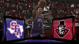 NCAA Basketball 09 Stephen F. Austin Lumberjacks Dynasty- Blowing Leads? at Austin Peay Governors